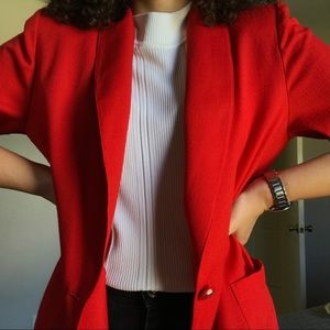 VINTAGE ✨ oversized red blazer